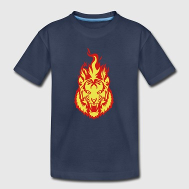 flame fire tiger fire 910 - Kids' Premium T-Shirt