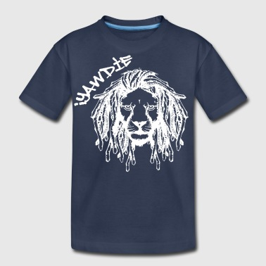 Dread Lion (White) - Kids' Premium T-Shirt