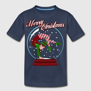 Snow Globe Gymnast Elf - Kids' Premium T-Shirt