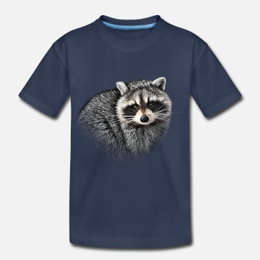 Raccoon A Gentle Raccoon - Kids' Premium T-Shirt