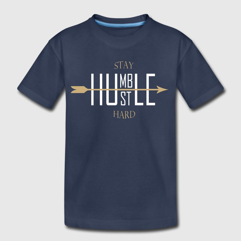 stay humble - hustle hard - Kids' Premium T-Shirt