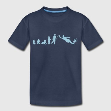 Water Skiing evolution water skiing - Kids' Premium T-Shirt
