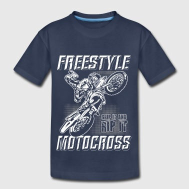 The Freestyle Life Freestyle Motocross Stunt - Kids' Premium T-Shirt