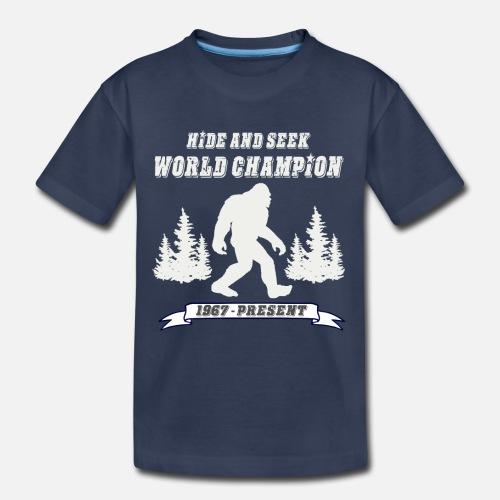 6bca85b0 Hide and Seek World Champion Dark Tee Kids' Premium T-Shirt ...