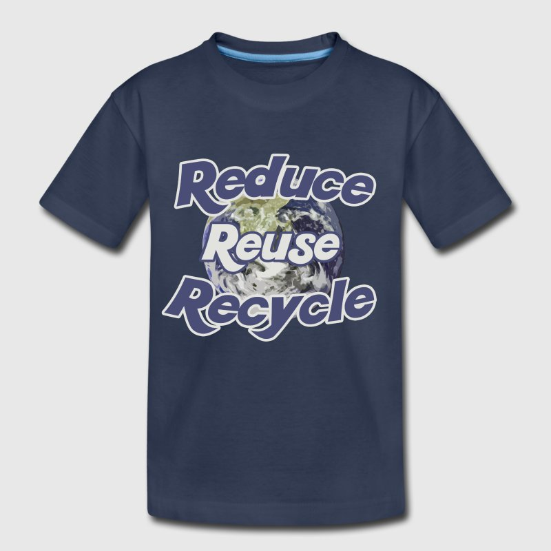 Reduce reuse recycle earth day - Kids' Premium T-Shirt