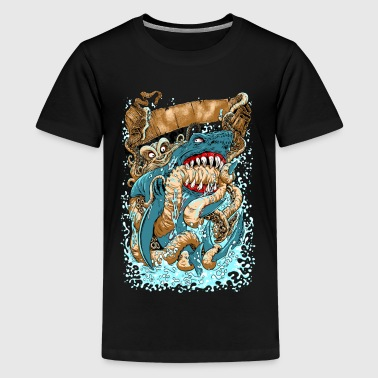 OCTOPUS v SHARK - Kids' Premium T-Shirt