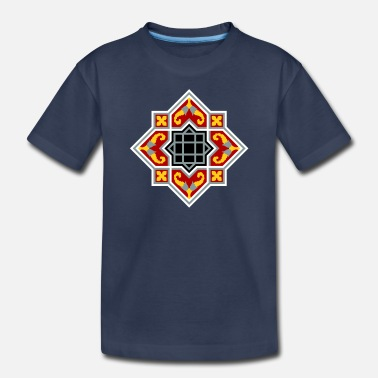 Nineteenth Century Barcelona tile red octagonal pattern - Kids' Premium T-Shirt