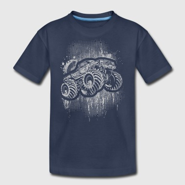 Monster 4x4 Truck grungy - Kids' Premium T-Shirt