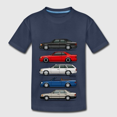 Stack of Mercedes W124 E-Class - Kids' Premium T-Shirt