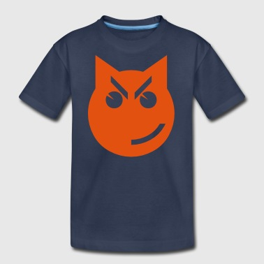 Smirking Emoji Cat - Kids' Premium T-Shirt