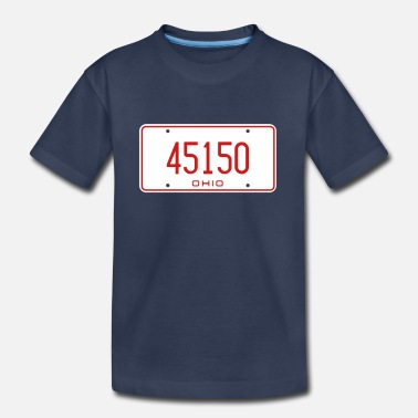 Ohio License Plate 45150 1976 - Kids' Premium T-Shirt