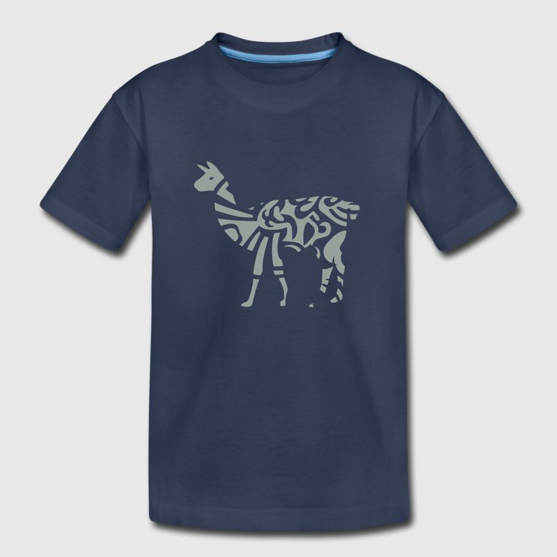 lama tribal wild animal designs - Kids' Premium T-Shirt