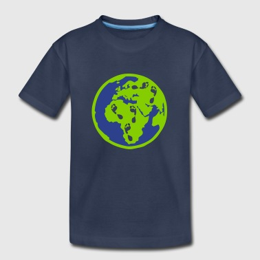 first steps on planet - Kids' Premium T-Shirt
