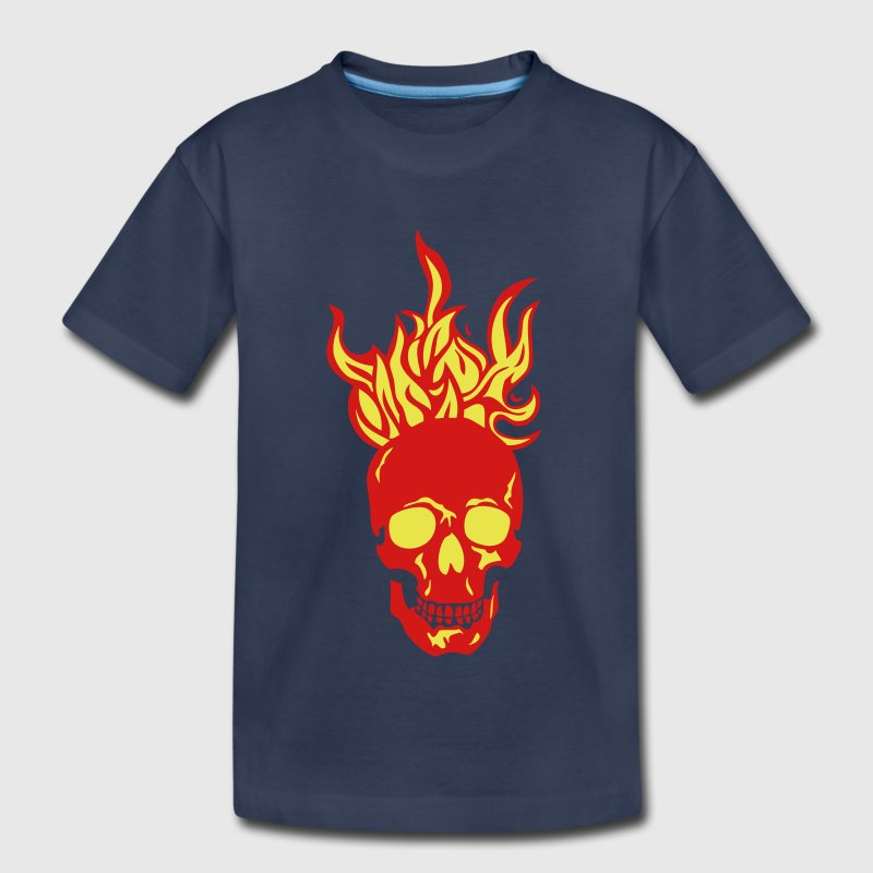 skull flame fire dead head - Kids' Premium T-Shirt
