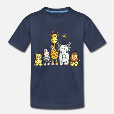 African Animals Happy African Animal Team - Kids' Premium T-Shirt