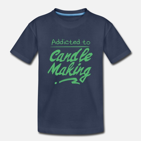 Candle T-Shirts - Candle Making Maker Wax Candles Pull - Kids' Premium T-Shirt navy