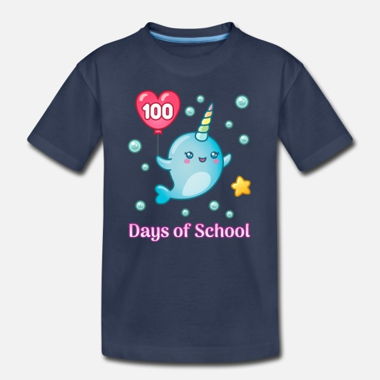 School T-Shirts - 100 Days of School - Kids' Premium T-Shirt navy