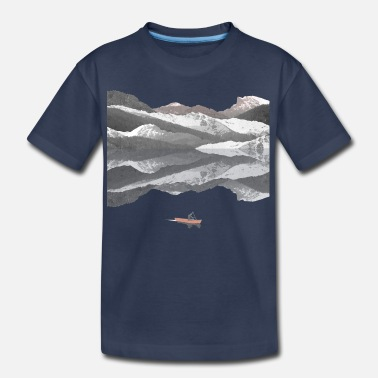 Nature Collection Mountain Lake - Kids' Premium T-Shirt