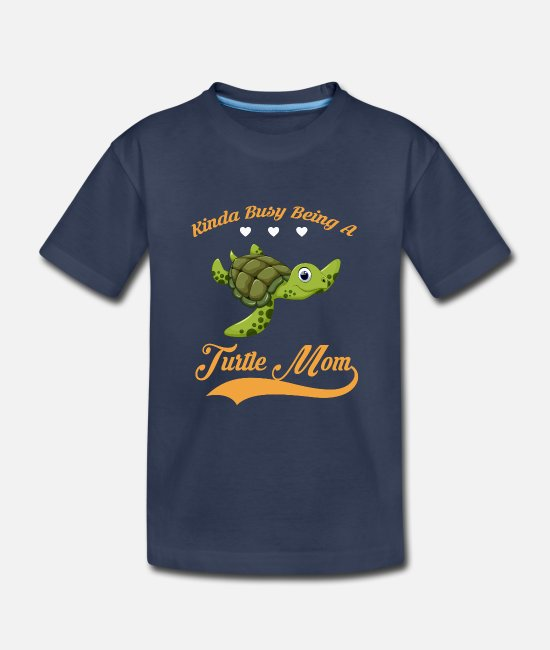 Quote T-Shirts - Kinda busy being TURTLE MOM - Kids' Premium T-Shirt navy