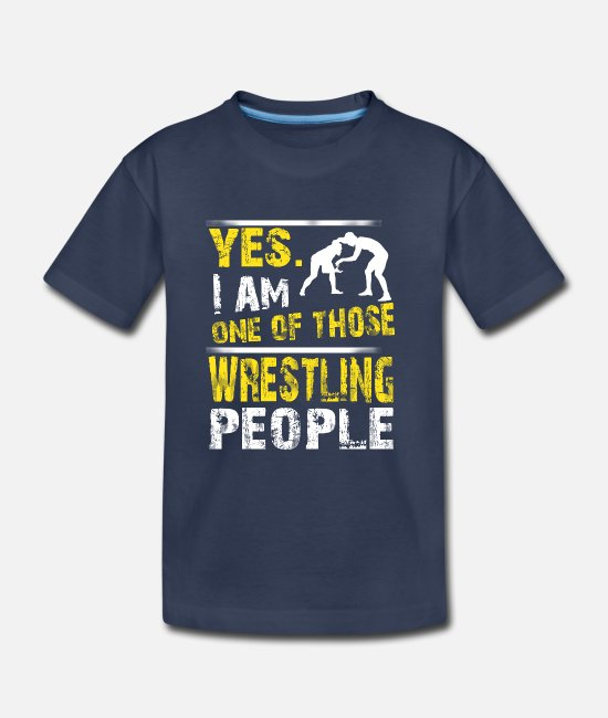 Funny WRESTLING T-Shirts - One of those WRESTLING people - Kids' Premium T-Shirt navy