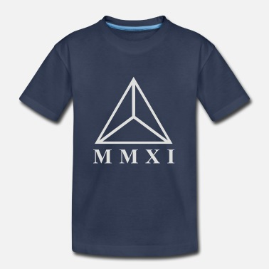 Roman Cross MMXI Roman Numerals Triangle - Kids' Premium T-Shirt