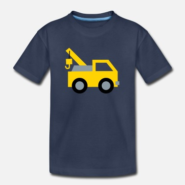 Land Vehicle cute tow truck, land vehicle, for kids - Kids' Premium T-Shirt