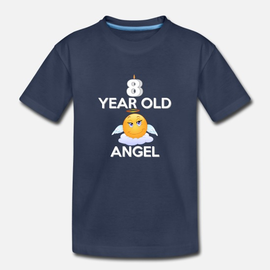 Birthday T-Shirts - 8 Year Old Angel - Kids' Premium T-Shirt navy