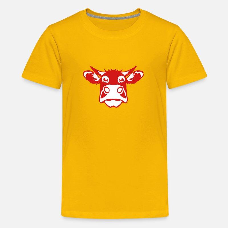 86477e831 funny cow drawing 801 Kids' Premium T-Shirt | Spreadshirt