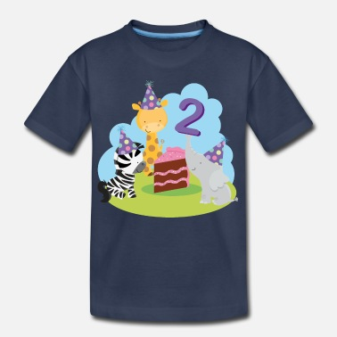Zoo Animal 2nd Birthday Zoo Animals - Kids' Premium T-Shirt