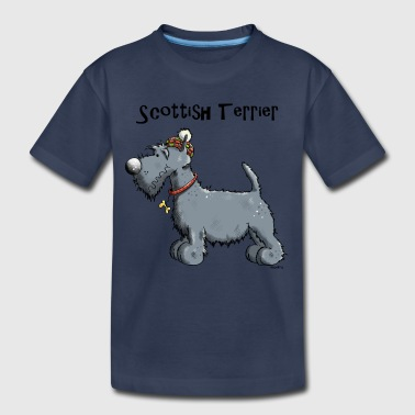 Cute Scottish Terrier - Dog - Dogs - Gift - Kids' Premium T-Shirt