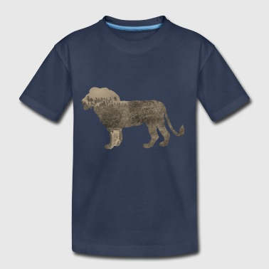 Silhouette Jungle Series Lion - Kids' Premium T-Shirt