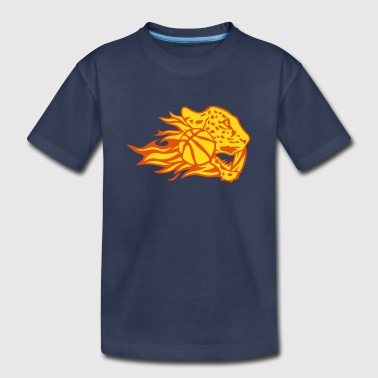basketball fire flame logo leopard - Kids' Premium T-Shirt