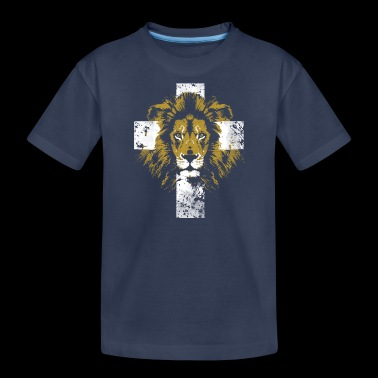 Lion of Judah Cross - Kids' Premium T-Shirt