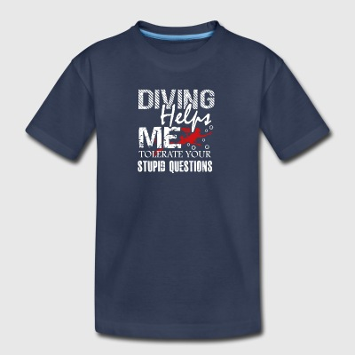 Scuba Diving Helps Me Shirt - Kids' Premium T-Shirt