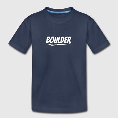 Boulder Retro Comic Book Style Logo - Kids' Premium T-Shirt