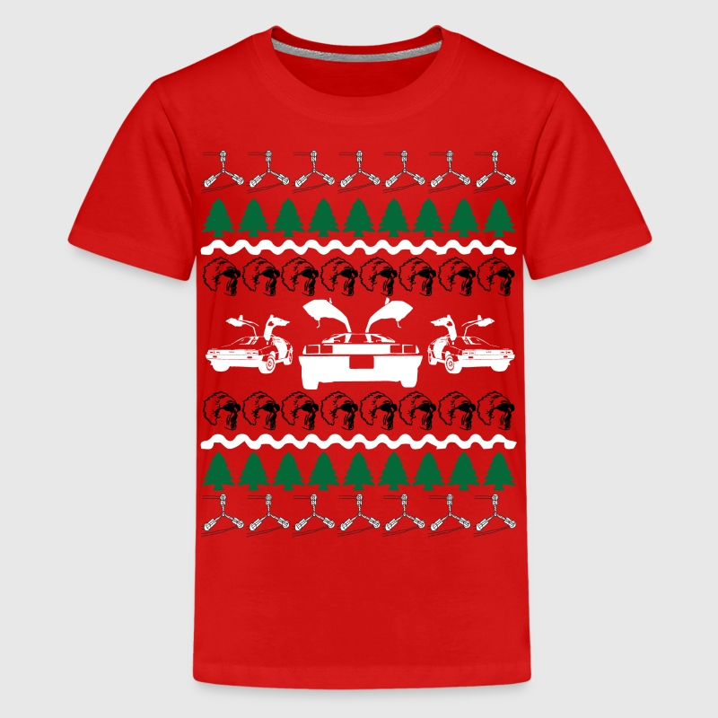 Back to the Future Ugly Christmas Sweater - Kids' Premium T-Shirt