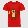 Monkey with Banana.png - Kids' Premium T-Shirt