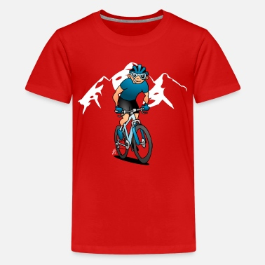 MTB - Mountain biker in the mountains - Kids' Premium T-Shirt