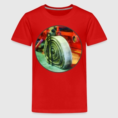Coiled Hose on Fire Truck - Kids' Premium T-Shirt