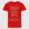 UGLY HOLIDAY SWEATER LET'S GET BLITZEN - Kids' Premium T-Shirt