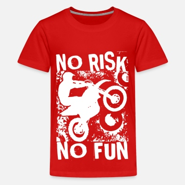 Kids Dirt Bikes Dirt Bike No Risk No Fun - Kids' Premium T-Shirt