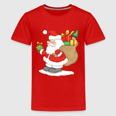 Santa Claus with bag of gifts. - Kids' Premium T-Shirt