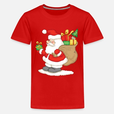 Claus Santa Claus with bag of gifts. - Kids' Premium T-Shirt