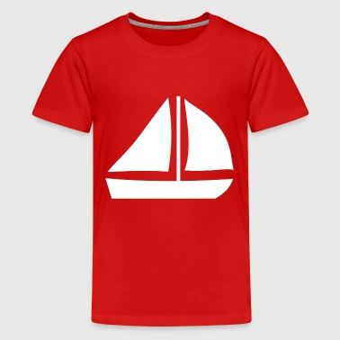 Sail Boat with two sails - Kids' Premium T-Shirt