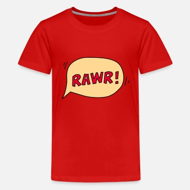 Bubble Letters Rawr speech bubble - Kids' Premium T-Shirt