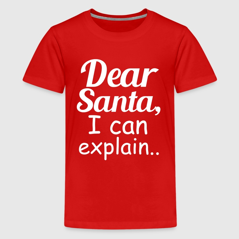 Dear Santa I Can Explain - Kids' Premium T-Shirt