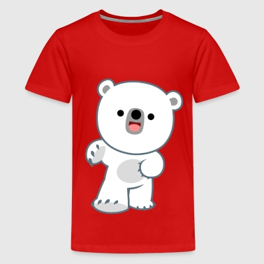 Polar Cute Happy Polar Bear Cub by Cheerful Madness!! - Kids' Premium T-Shirt