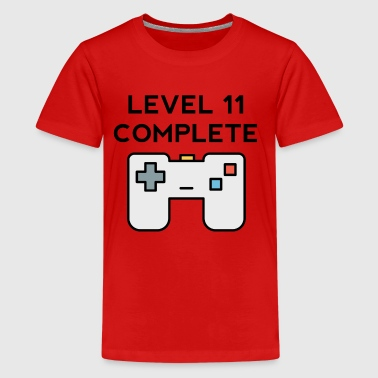 Level 11 Complete 11th Birthday - Kids' Premium T-Shirt