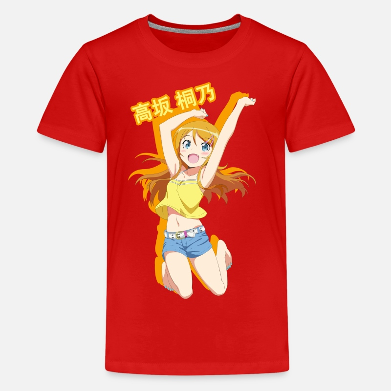 Jump T-Shirts - Jumping Kirino Kousaka - Kids' Premium T-Shirt red