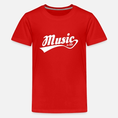 Music Is Life Pulse music is life - Kids' Premium T-Shirt